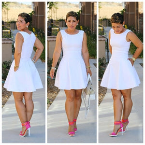 New Evening White Lace Nude Irregular Layered Women Party Skater Dress