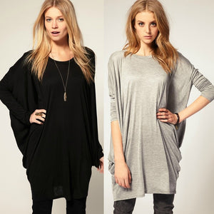 """Chic Series"" Bat-wing Sleeve Loose Oversize Knit Top T-shirt"