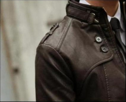 New Modern Spliced Design PU Leather Motorcycle Jacket