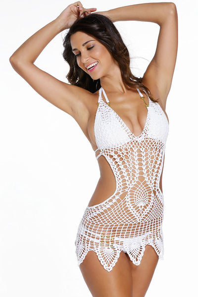 Newest Trends White Holiday Fashion Crochet Beachwear