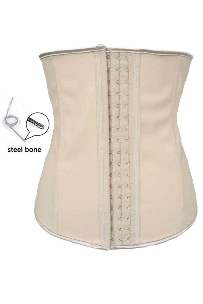 Apricot 4 Steel Bones HerFashion Latex Under Bust Corset