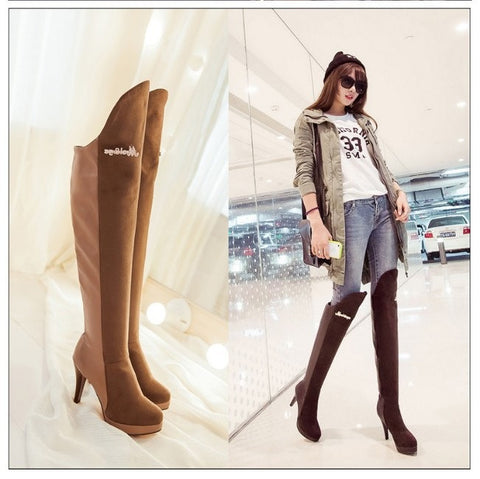 Over The Knee Boots High Heels Platform Fashion Shoes Trendy Series