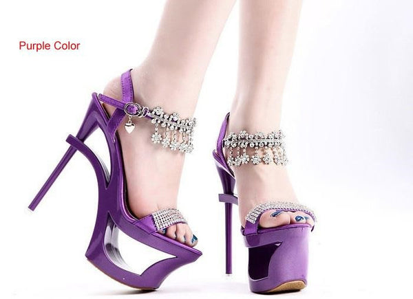 Princess Sandal High-Heeled Lady Platform Diamond Shoes