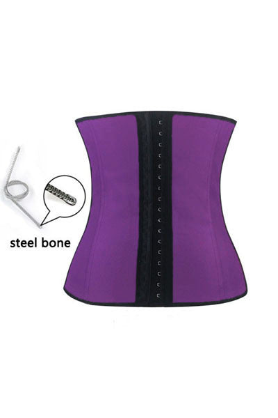 Purple 4 Steel Bones HerFashion Latex Under Bust Corset