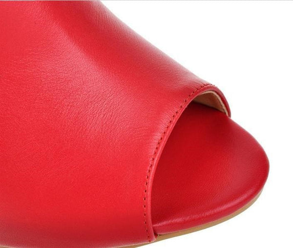 """Chic Series"" Genuine Leather Chic High Heel Shoes"