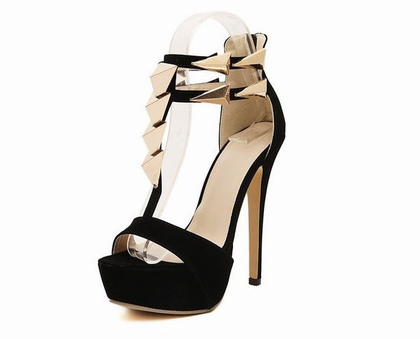Roman Style Europen Design High Heel Women Shoe