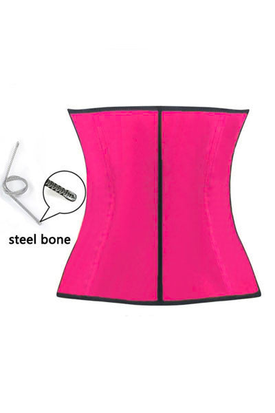 Rose 4 Steel Bones HerFashion Latex Under Bust Corset