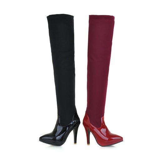 "Sexy Pointed Head Thin High Heel Over The Knee Boots ""Mod Series"""