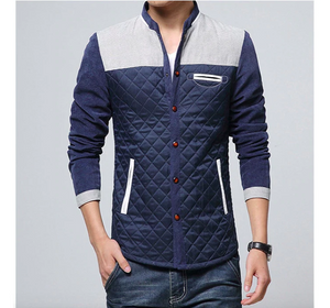 His Fashion Spring Autumn Men's Patchwork Jacket Coat