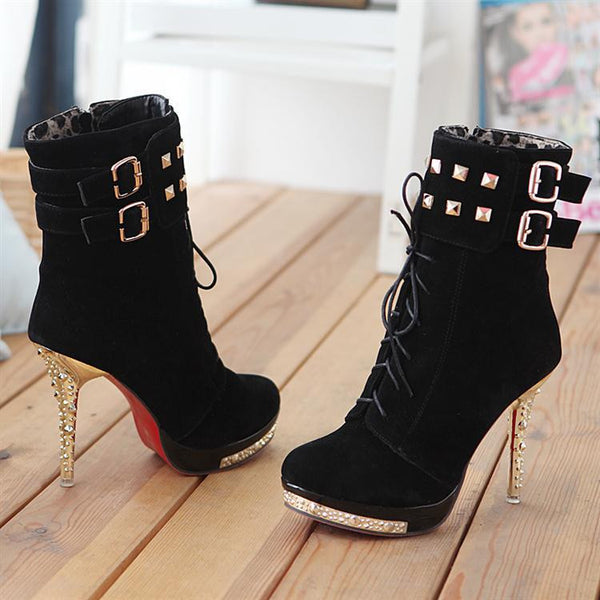 """Trendy Series""  High Heel Ankle Boots 2015 (New Arrival)"