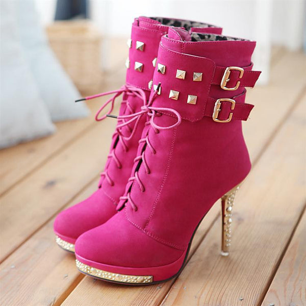"""Trendy Series""  High Heel Ankle Boots"