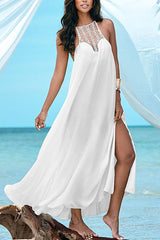 Sheer Maxi Crochet Bust Summer Stylish Her Beach Dress