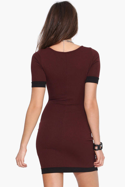 Short Sleeve  Asymmetric Mini Dress