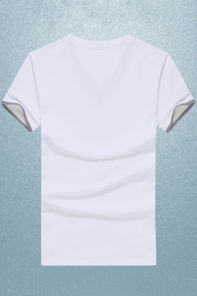 Signature Series White V Neck Cotton T-shirt