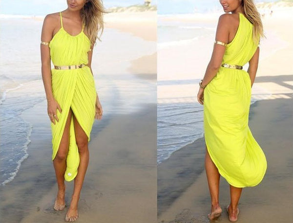 """Chic Series"" Sleeveless Halter Dress Beach Nightclub Party Cocktail"
