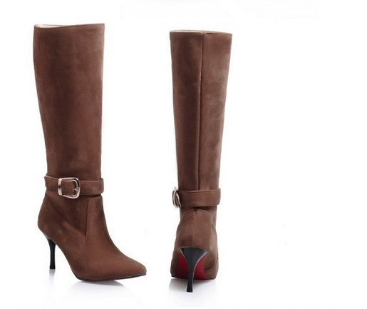 "Slim Sexy Thin High Heels Red Bottom Boots + Plus Size ""TRENDY SERIES"""