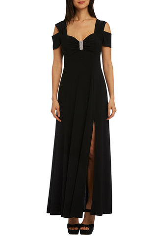 Stunning Black Long Cold Shoulder Her Fashion Maxi Dress
