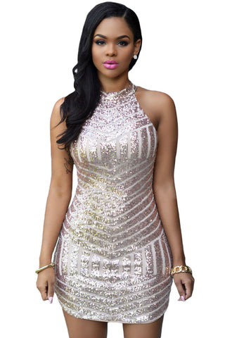 Stunning Her Fashion Bodycon Sparkling Sequin Sexy Party Mini Dress