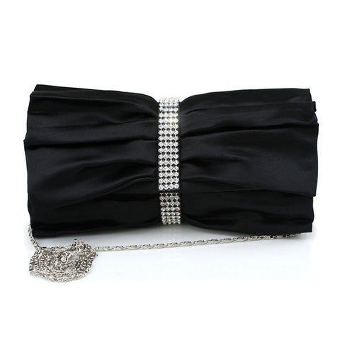 Stylish Women's Purse Silk Rhinestone Handbag Clutches