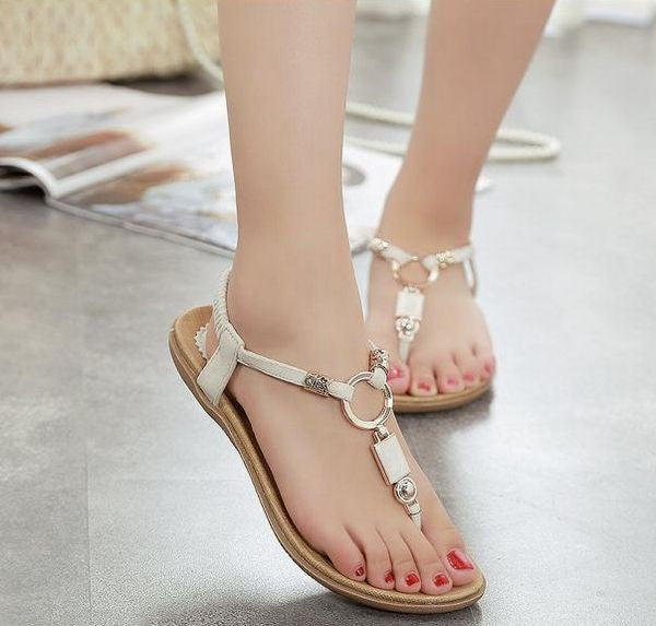 Summer Fashion Design With Metallic Sandals
