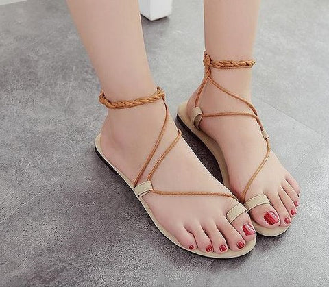 Summer Sweet Flat Pinch Fashion Sandal