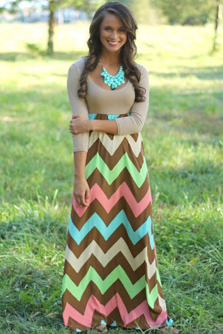 Super Cute Long Sleeve Classic Maxi Dress