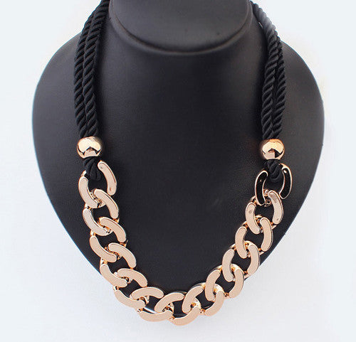 "Thick Chain Pendant Link Chain ""Trendy Series "" Necklace For Women"