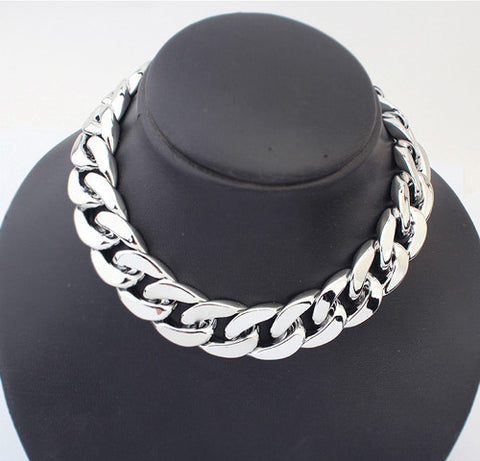 """Trendy Series"" Thick Link Chain  Necklace For Women"