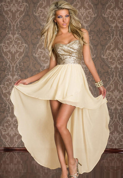 """Mod Series"" Plus Size Top Thin Tulle Sequin Long Chiffon Dress"