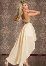 """Mod Series"" Top Thin Tulle Sequin Long Chiffon Dress"