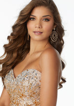 Trendy Beaded Tulle Her Fashion Prom Dress with Sweetheart Neckline