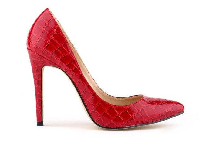 """Trendy Series"" Classic Pointed High-Heel Crocodile Lines Shoes"