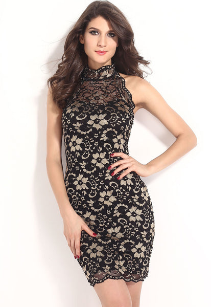 Trendy Series Vintage Floral  Lace Elegant Women Dress