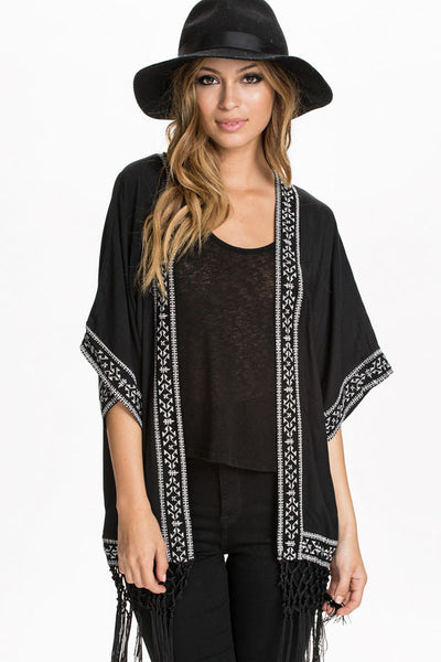 Trendy and Fringe Her Fashion Kimono