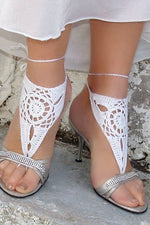 Triangle Crochet Assorted Colors Barefoot Sandal