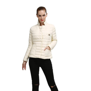 Ultra Modern White Womens Jackets Winter Fashion Coat For Her
