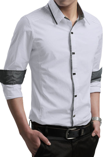 Button-Down Front  Modern Slim Fit Mens Cotton Shirt