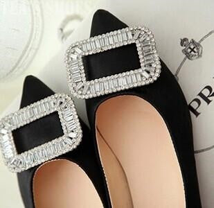 Women pointed Toe Flats Slip-on Platform Shiny Diamond Shoes (New Arrival) 2015