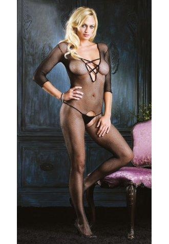 Criss Cross Elastic Bodystocking