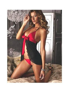 Contrast Babydoll with Ribbon Detail
