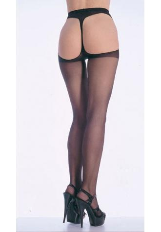 Sexy Sheer Open Back Pantyhose