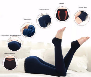 High Elasticity And Good Quality Thick Velvet Pants Warm Leggings