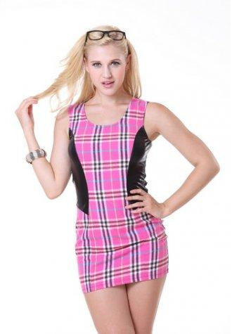Grid Clubwear Mini Dress