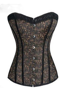 Gothic Grunge Print Overbust Corset