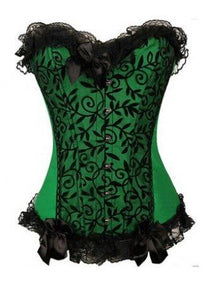 Floral Lace Overbust Corset