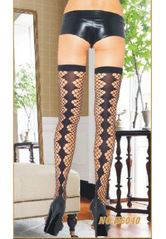 Thigh Highs with Diamond Net Stockings