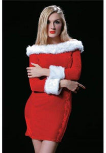 Holiday Party Christmas Costume Off The Shoulder Dress