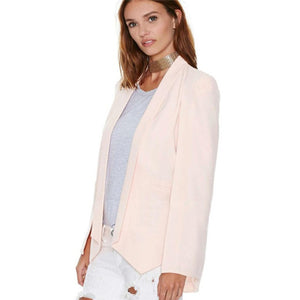Elegant Cloak Cape Solid Shawl Coat Womens Blazer Suit Jacket
