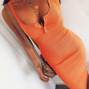Tank Ribbed Bodice Scoop Neck Her Fashion Bodycon Stylish Womens Dress