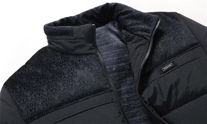 Men's Trendy Winter Jacket His Fashion Business Stand Collar Coat